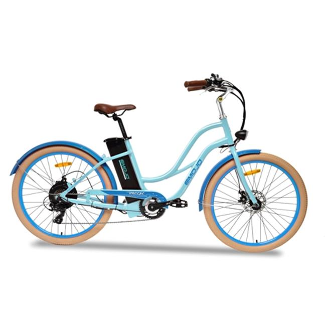 Emojo BRE-BLU-36-500 Electric Lady Beach Cruiser - Blue