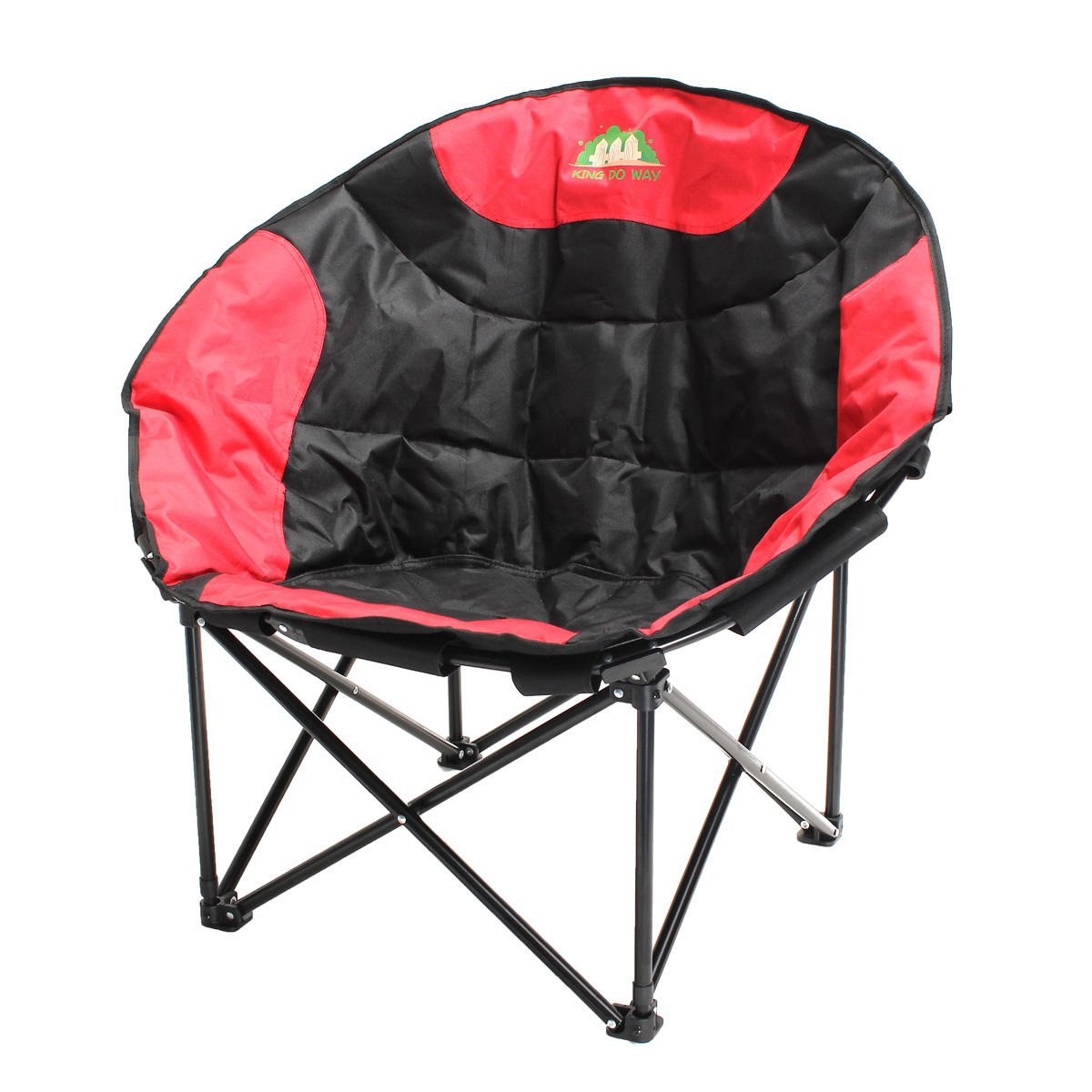 Confortable Large Folding Saucer Moon Chair Polyester Rou...