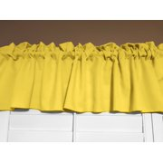 "Solid Poplin Window Valance 58"" Wide Lemon"