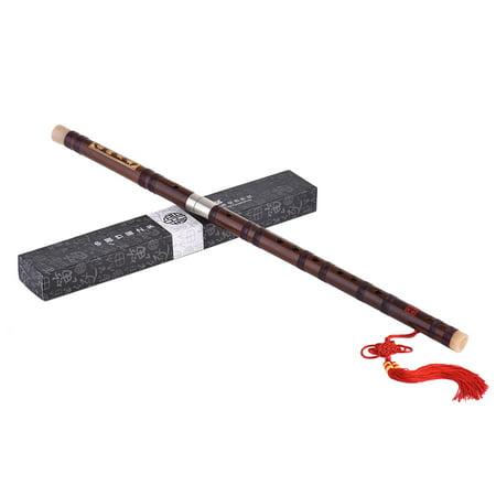- Pluggable Bitter Bamboo Flute Dizi Traditional Handmade Chinese Musical Woodwind Instrument Key of C Study Level Professional Performance