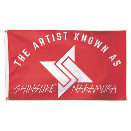 Official WWE Authentic Shinsuke Nakamura 3 x 5 Logo Flag - Wwe Banner