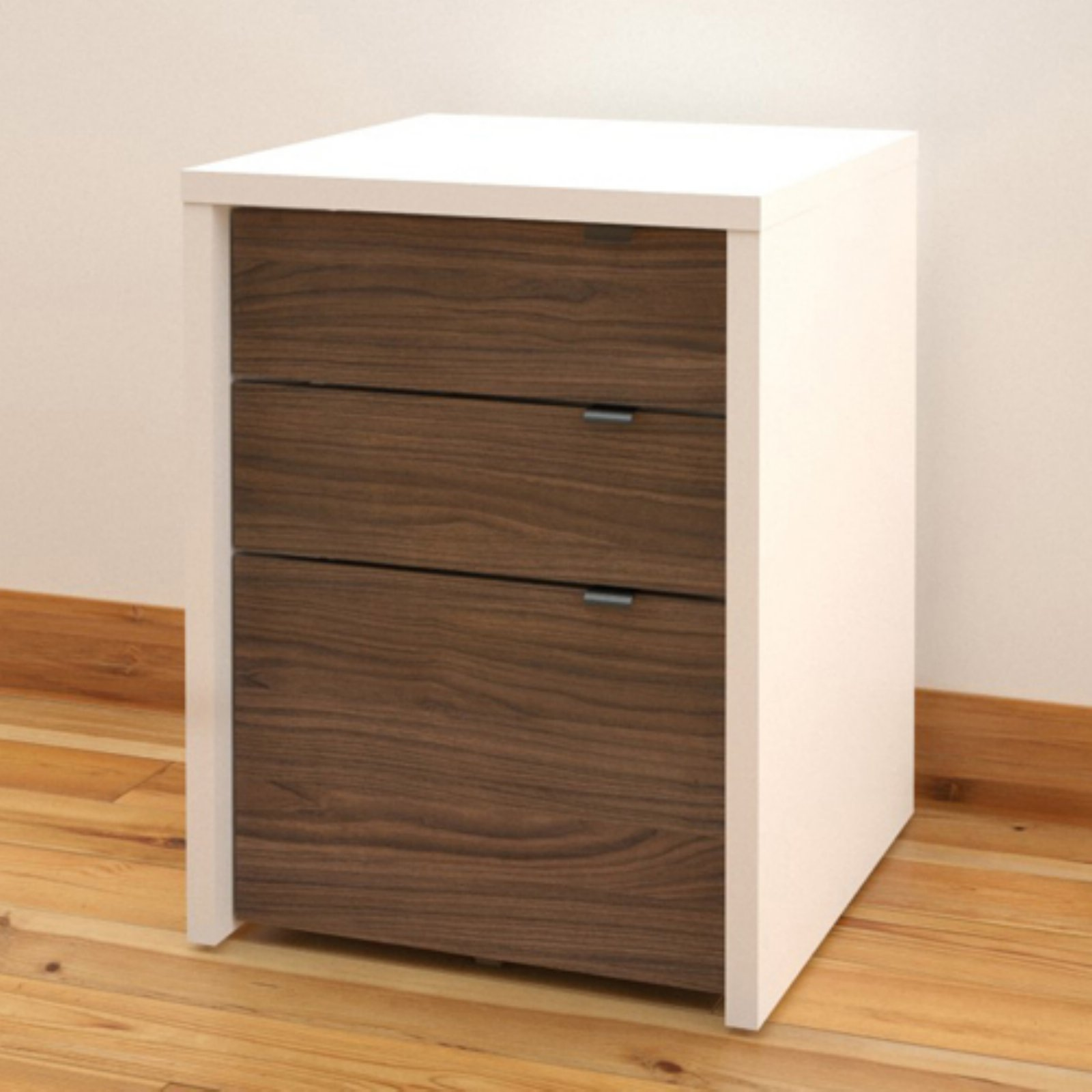 Nexera 3 Drawers Vertical Wood Composite Filing Cabinet, Multiple Finishes available