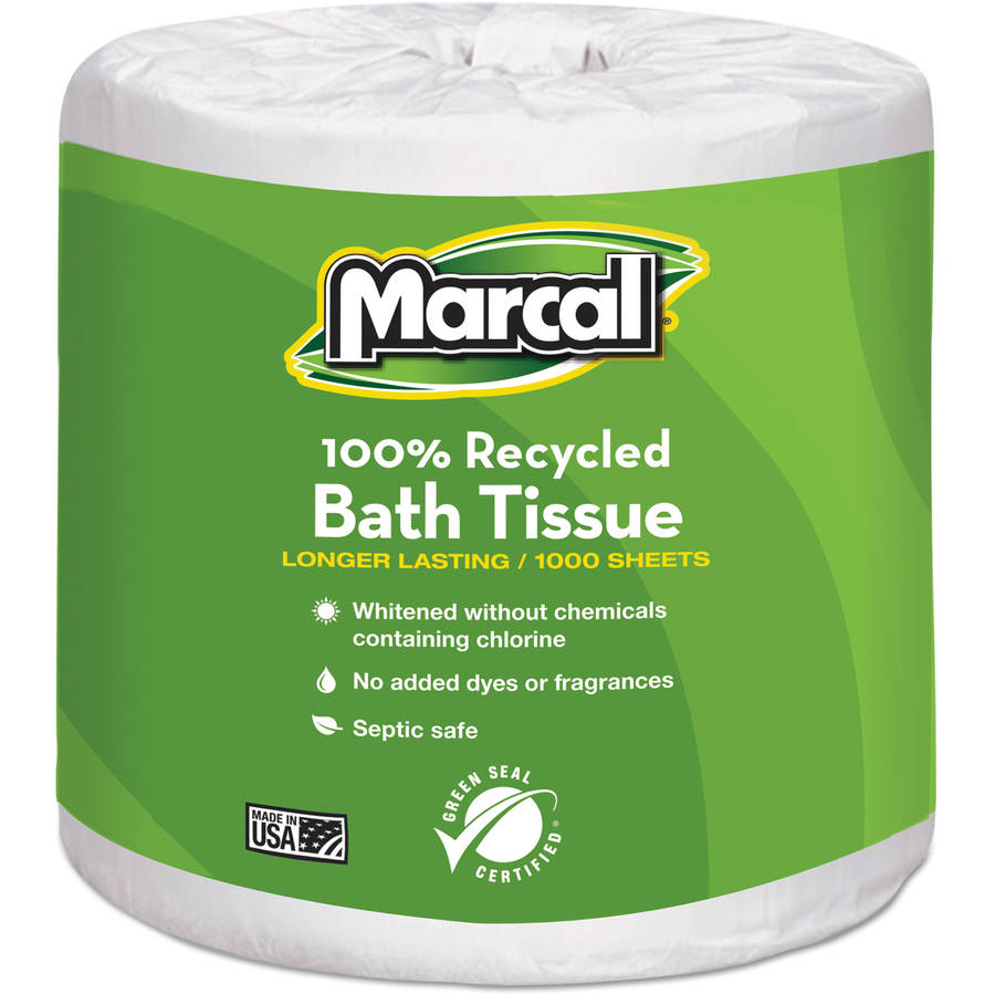 Marcal Small Steps 100 Percent  Premium Recycled One-Ply Bath Tissue, 1000 sheets, 40 ct