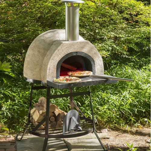 Rustic Natural Cedar Furniture Rustic Wood Fired Oven - Plain Front