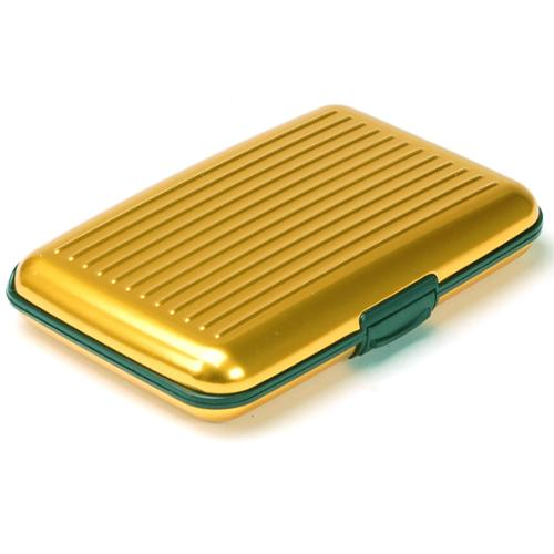 Aluminum Wallet Credit Card Holder RFID Protection Light Durable Safe & Stylish Gold One Size