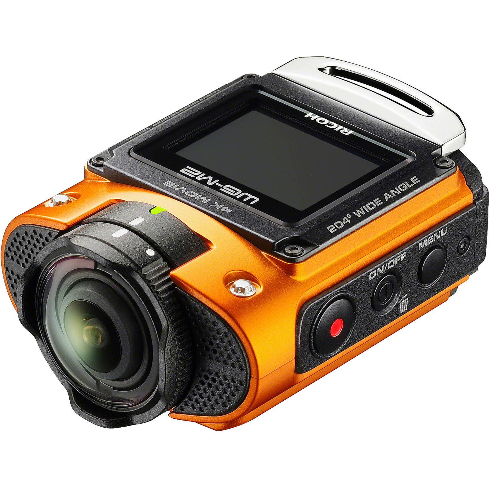 Ricoh WG-M2 Wi-Fi 4K Ultra HD Video Action Camera Camcorder (Orange)