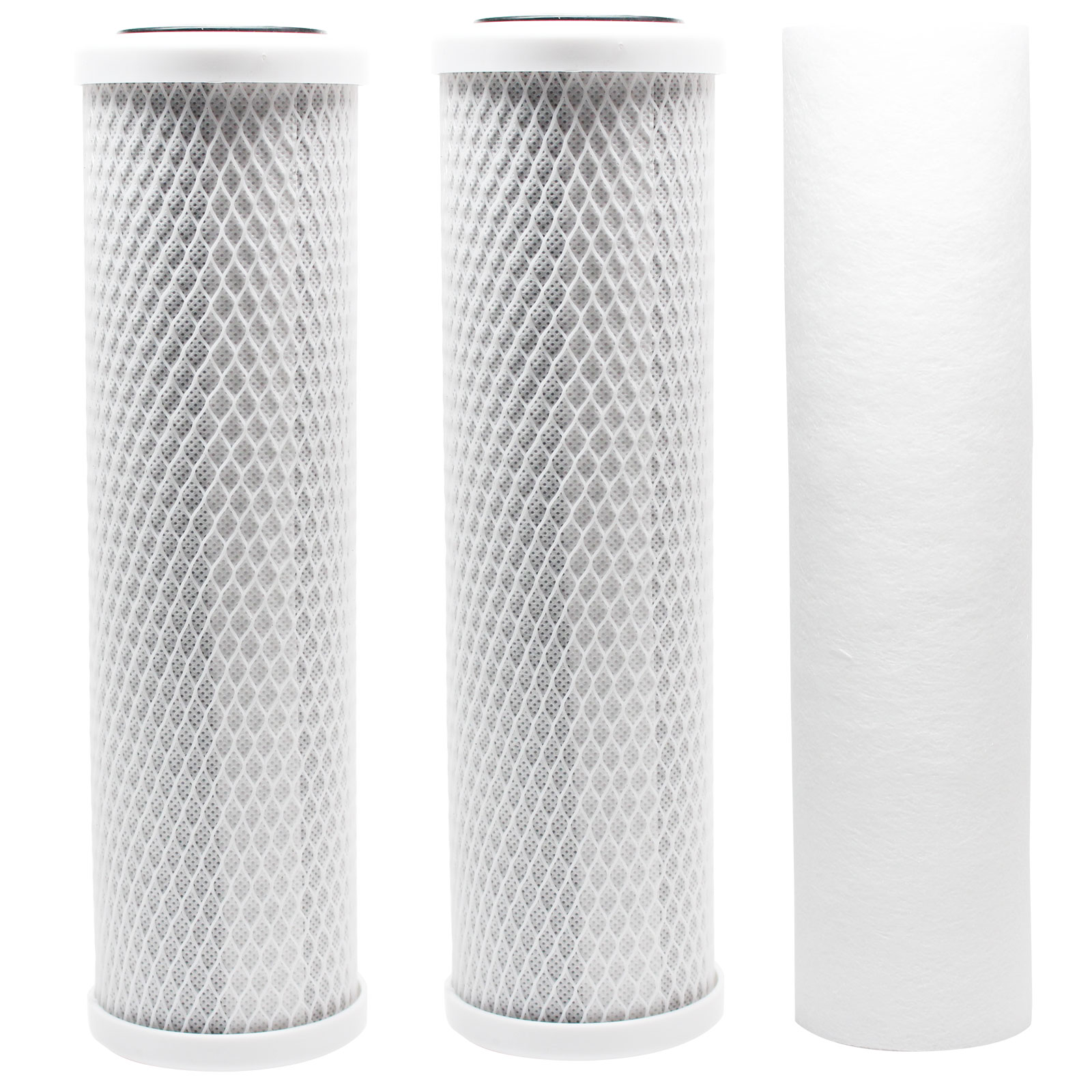 Replacement Filter Kit for Krystal Pure KR10 RO System - Includes Carbon Block Filters & Polypropylene Sediment Filter - Denali Pure Brand