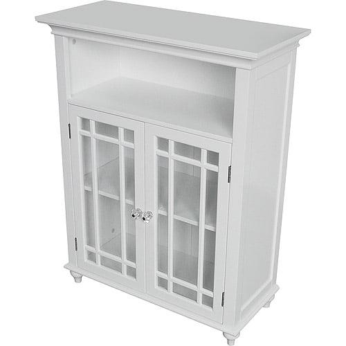 Heritage Double Door Floor Cabinet White Walmartcom