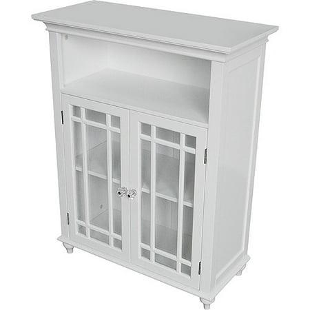 Heritage Double Door Floor Cabinet  White. Heritage Double Door Floor Cabinet  White   Walmart com