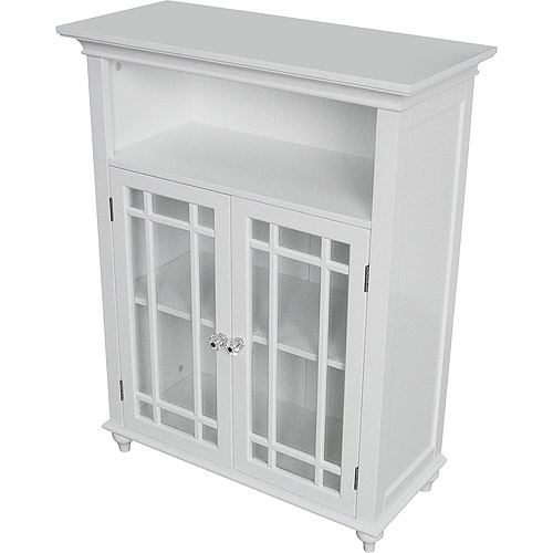 Heritage Double Door Floor Cabinet, White