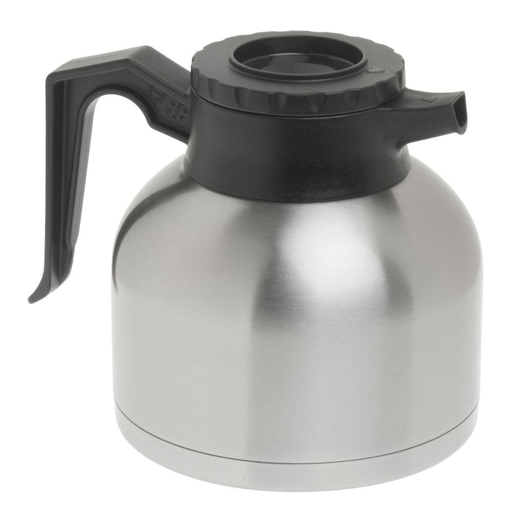 "Coffee Decanter 1.9 L Brew-Thru Stainless Steel - 8"" L x 6 1/4 W x 7"" H"