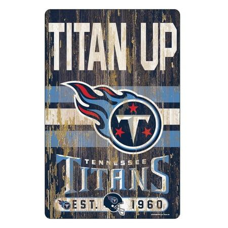 Tennessee Titans Sign 11x17 Wood Slogan Design - image 1 de 1