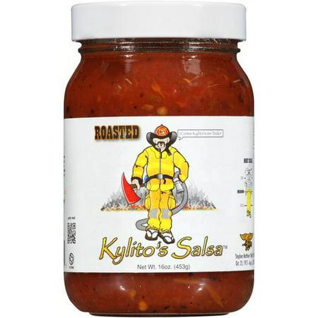 Fire Roasted Tomato Salsa ((2 Pack) Kylito's Salsa Roasted Medium Salsa, 16 oz )