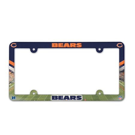- Chicago Bears Official NFL 12 inch x 6 inch  Plastic License Plate Frame by Wincraft