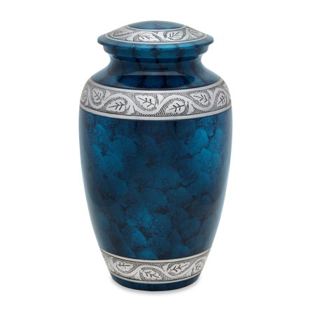 Urnsdirect2u Tortoise Blue Adult Urn, 220 cubic inch