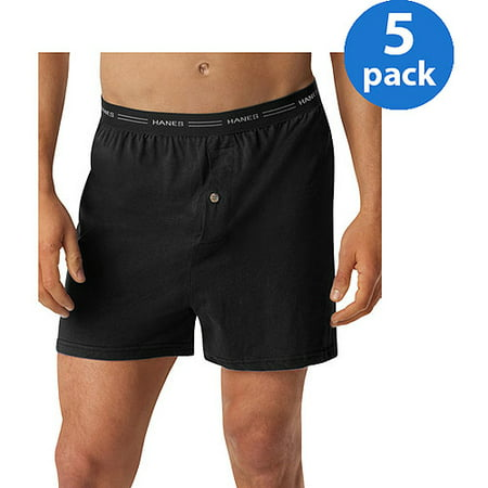 Hanes Men's Comfort Flex Waistband Knit Boxer 5-Pack
