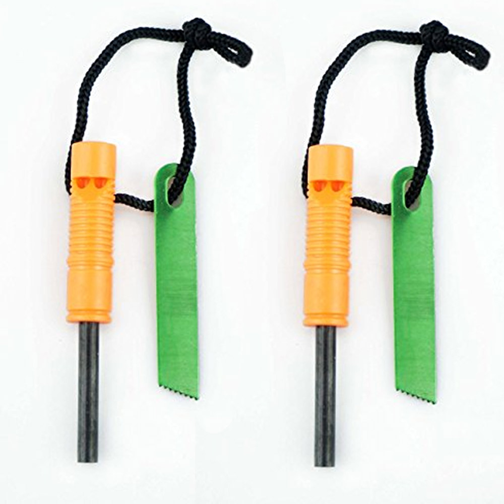 Click here to buy 2Pk Emergency Flint Fire Starter Striker Magnesium Survival Lighter Camping Tool by SONA ENTERPRISES.