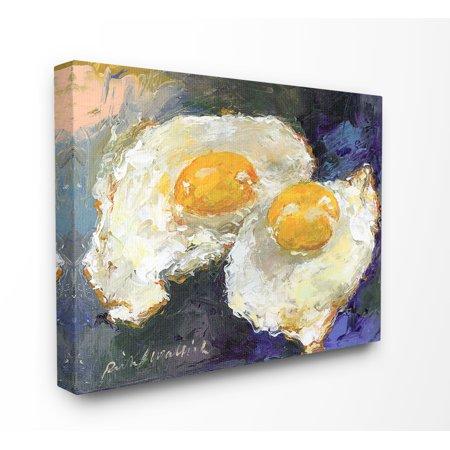 Stupell Sunny Side Up Fried Eggs Still Life Canvas Art, 16 x 20 ()