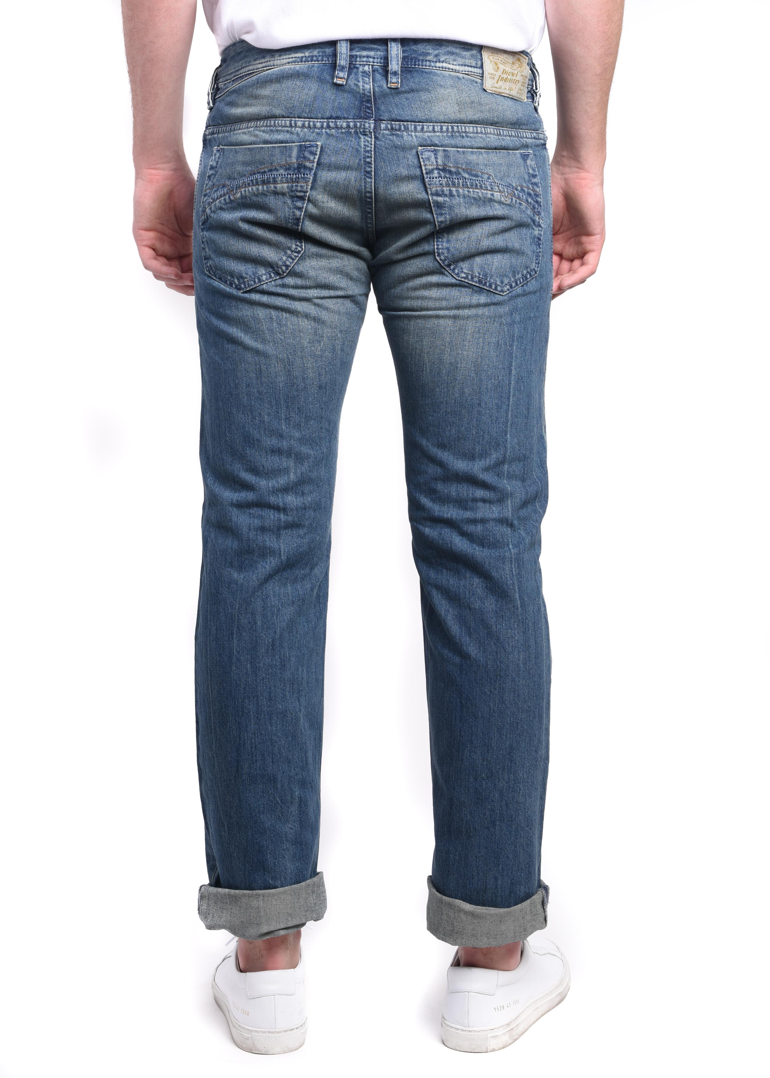 23aa6adb Diesel Iakop Men's Regular Slim-Tapered Denim Jeans 0R4S4 - Walmart.com