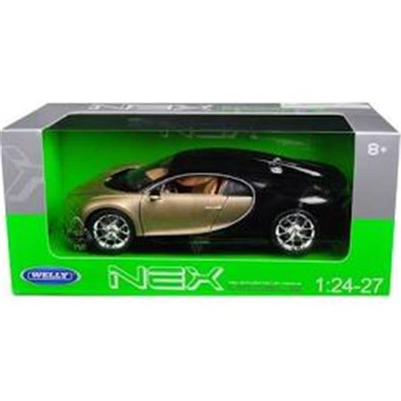 Bugatti Chiron Gold / Black 1/24 - 1/27 Diecast Model Car by