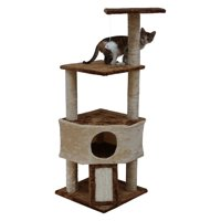 Go Pet Club 46 inch Multi-Tier Cat Tree Condo with Hanging Toys