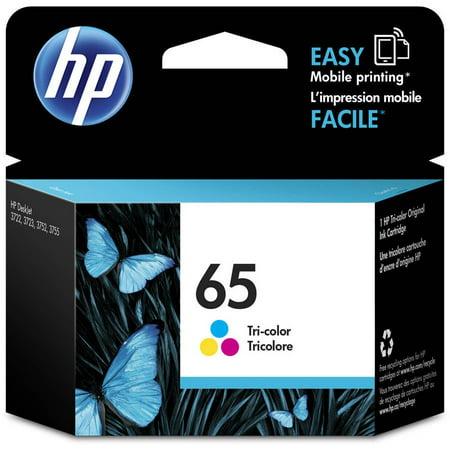HP 65 Tri-color Original Ink Cartridge - Walmart.com