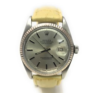 Rolex Datejust 1601 Silver Stick dial and a White Gold Fluted Bezel (Certified Pre-Owned)