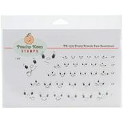 Peachy Keen Stamps Clear Face Assortment 32/pkg-frosty Friends