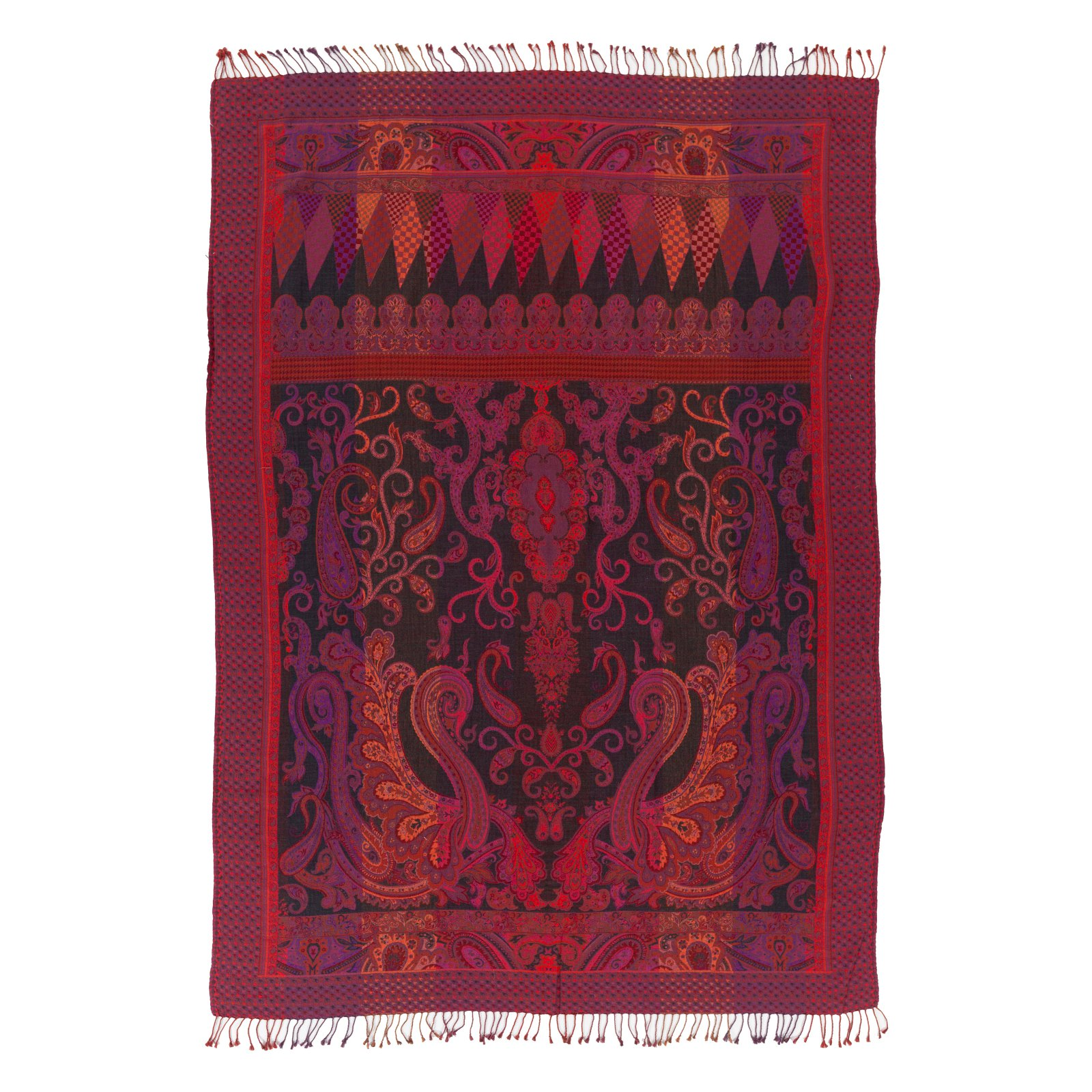 Surya Denali Damask Throw - 55L x 80W in.
