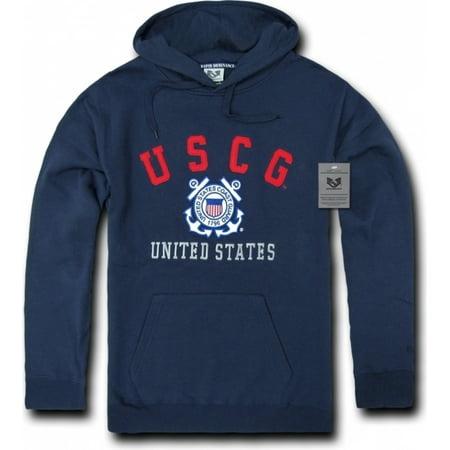 Mens Us Coast Guard - RapDom US Coast Guard Pullover Mens Hoodie [Navy Blue - S]
