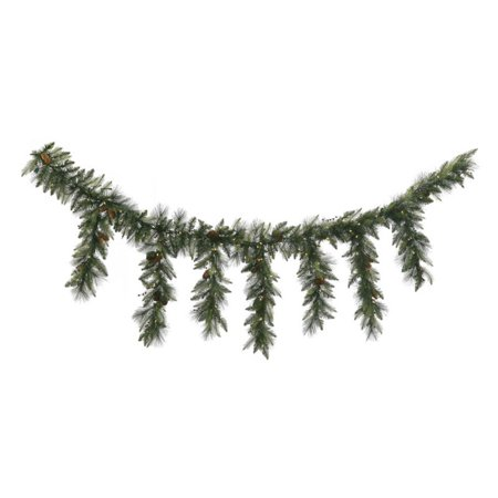 Vickerman 9' Vallejo Mix Icicle Garland 150 Warm White Led