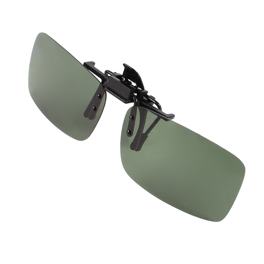 7845bddc22 Polarized Flip Up Clip on Sunglasses Dark Green Lens for Man Women - image  1 of zoomed image