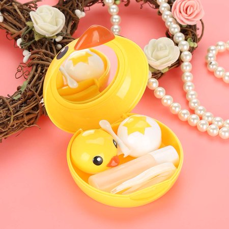 WALFRONT Cute Mini Cartoon Duck Contact Lens Holder Eye Care Lenses Container Case Mirror Box , Mirror Lens Case, Mini Contact Lens Box](Halloween Contact Lenses For Sale)