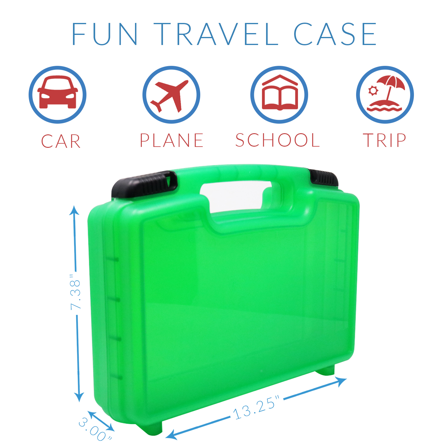 Accessories For Kids by LMB Toy Storage Carrying Box Figures Playset Organizer Life Made Better Daniel Tiger Case