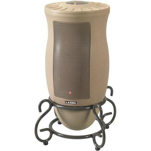 Lasko 1500W Designer Series Ceramic Space Heater with Remote, 6435, Beige