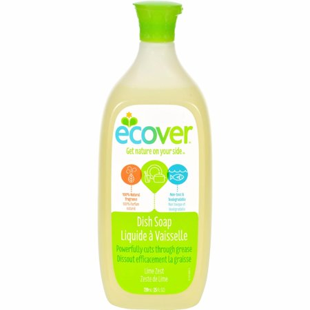 Ecover Liquid Dish Soap - Lime Zest - 25 Oz - Pack of 6