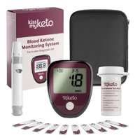 Kiss My Keto Blood Ketone Monitor  Complete Starter Kit  Advanced Keto Meter + Accessories for Measuring Ketosis