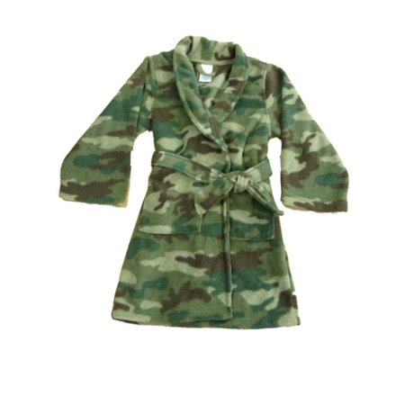 32587cdeb The Children's Place - The Childrens Place Boys Plush Green Camouflage Bath  Robe House Coat Camo - Walmart.com