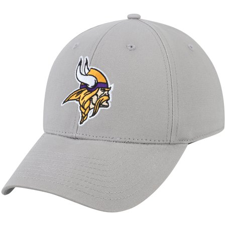 Minnesota Vikings Winter Hat (Men's Gray Minnesota Vikings Basic Adjustable Hat -)