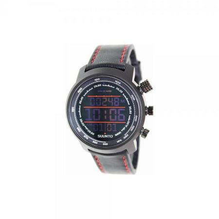 Suunto Unisex Elementum Terra 46Mm Black Leather Band Steel Case Sapphire Crystal Quartz Watch Ss019171000