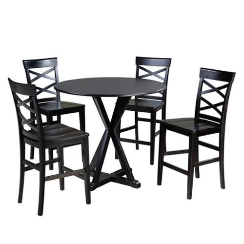Ashley Berlmine 5 Piece Counter Height Dining Set in Espresso ...