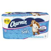 Charmin Ultra Soft Bathroom Tissue, 2-Ply, 4 x 3.92, 154/Roll, 16 Roll/Pack