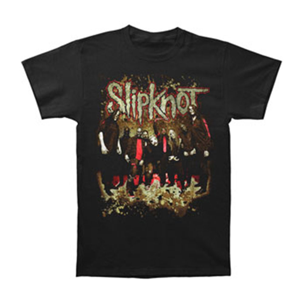 Slipknot Men's  Dirt Group T-shirt Black