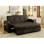 Furniture of America Kimball Sofa Bed, Brown