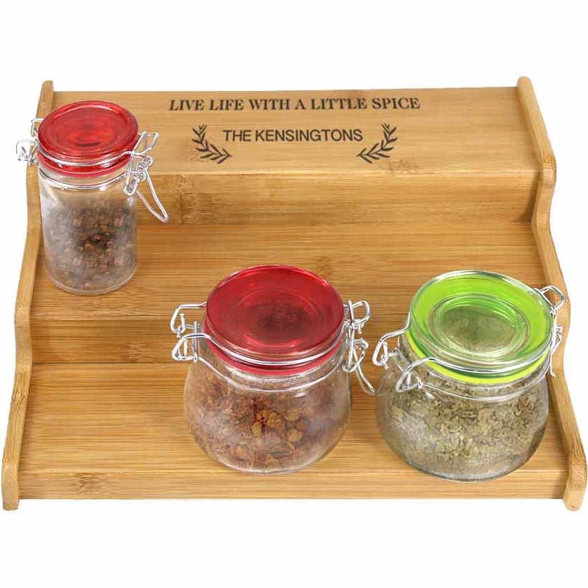 Live Life Personalized Name Spice Rack