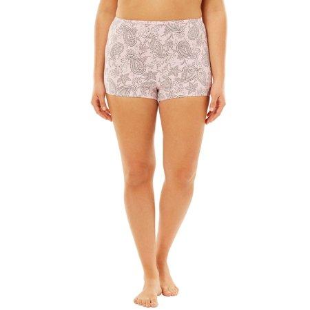 af1801b1db7d Woman Within - Plus Size Stretch Microfiber Boyshort By Comfort Choice -  Walmart.com