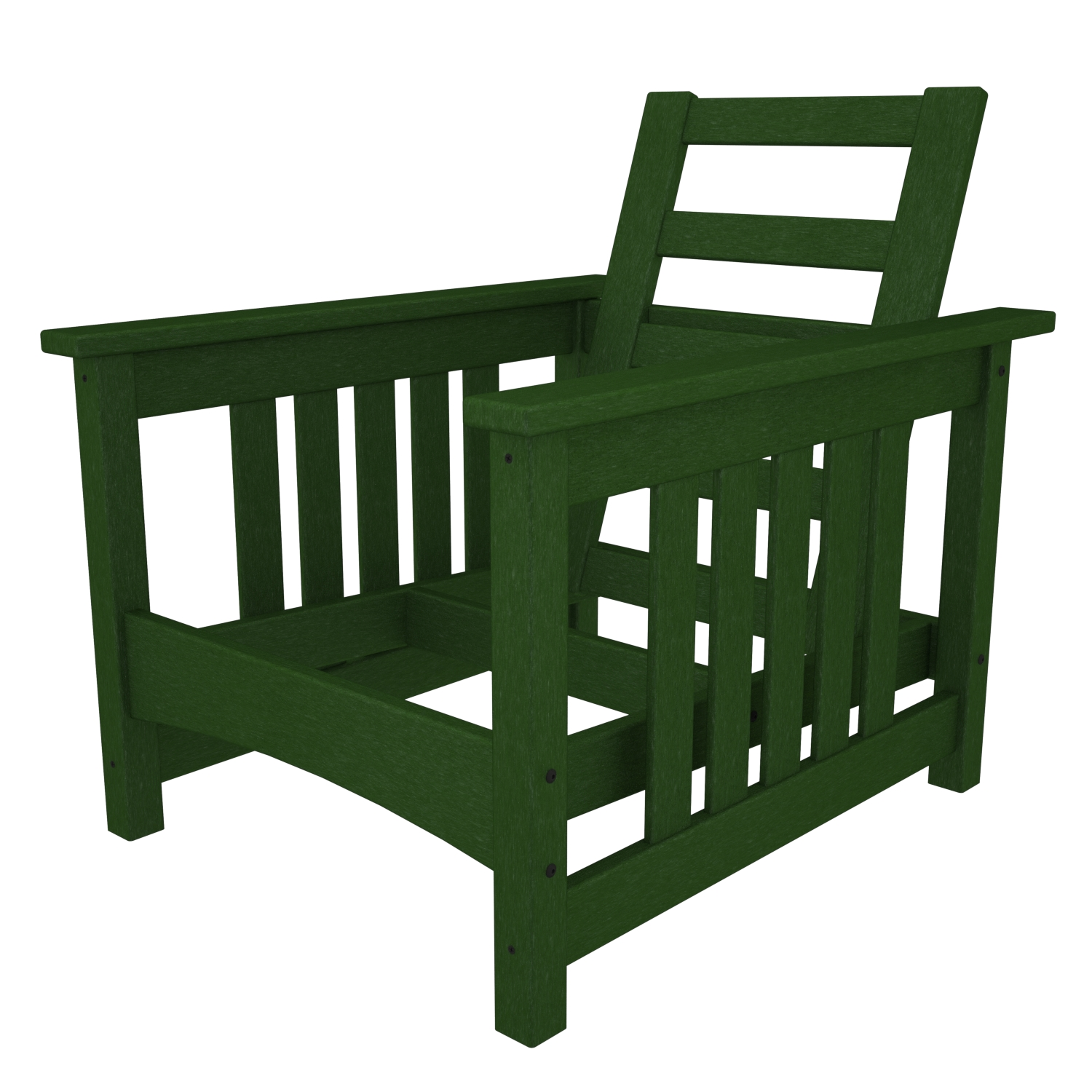 POLYWOOD CMC23GR Mission Chair in Green