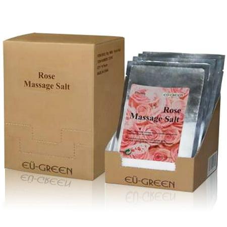 Natural Mineral Foot Bath (Royal Massage Natural Sea Salt Mineral Massage Scrubbing Salts (80g packets x 10) - Rose)