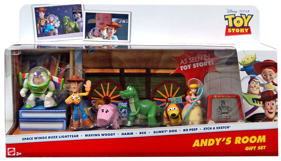 Toy Story 20th Anniversary Andys Room Gift Set Mini Figure 7-Pack [Buzz Lightyear, Woody, Hamm, Rex, Slinky... by Mattel