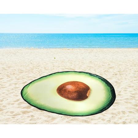 Mainstays Shaped Avocado Beach Towel, 1 Each